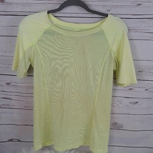 LULULEMON short sleeve top bright yellow
